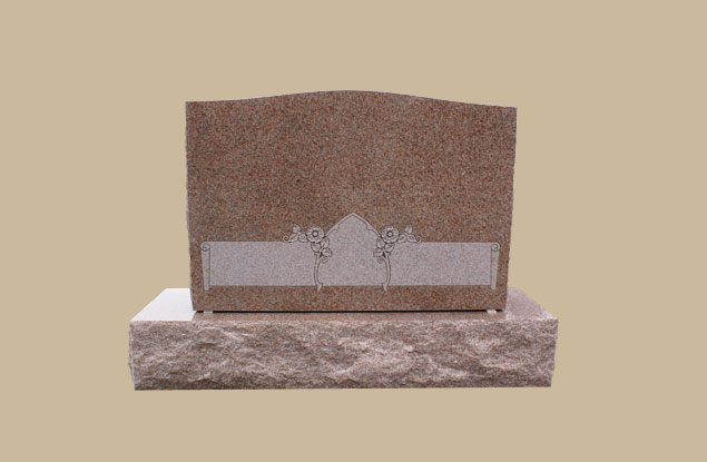 0267D Slanted Grave Marker