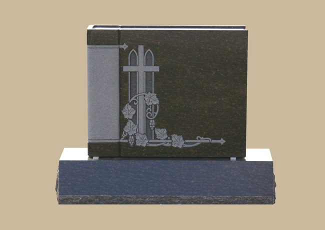 0109D upright grave marker