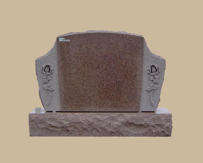0140D upright grave marker
