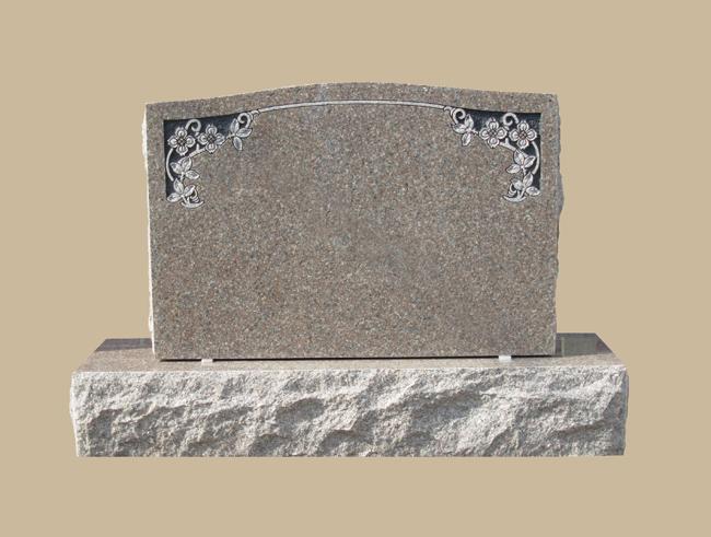 0148D upright grave marker- floral