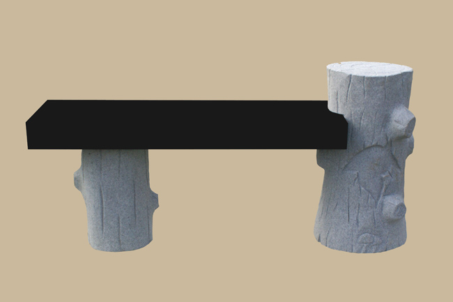 0167D granite bench memorial