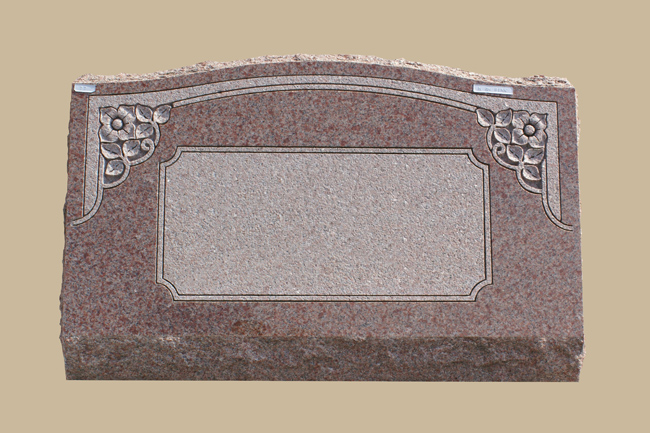 0077D cemetery gravestone- floral